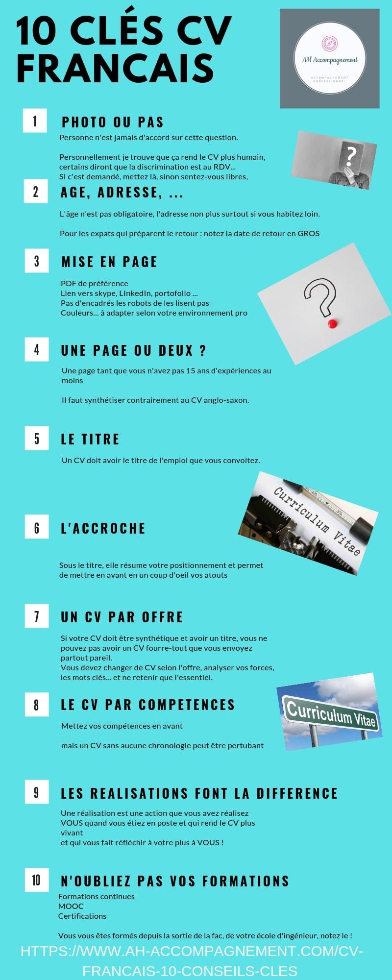 10 clés cv francais