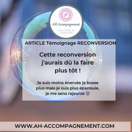 article témoignage reconversion prof web