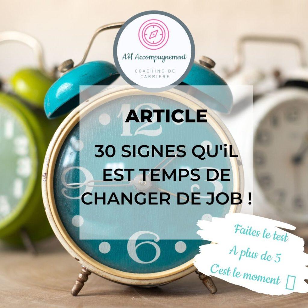 article 30 signes temps de changer