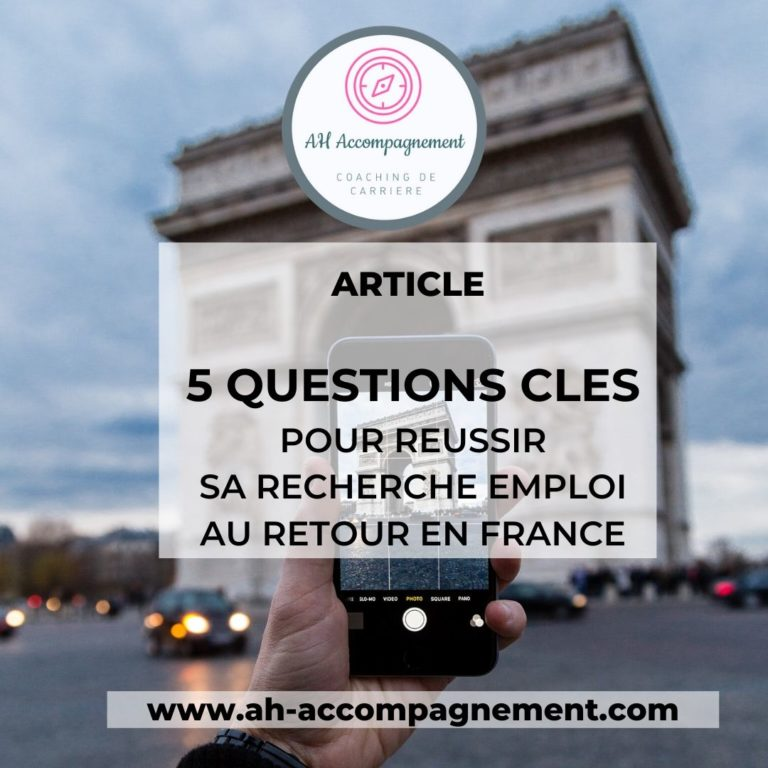 5 QUESTIONS CLES RECHERCHE EMPLOI RETOUR