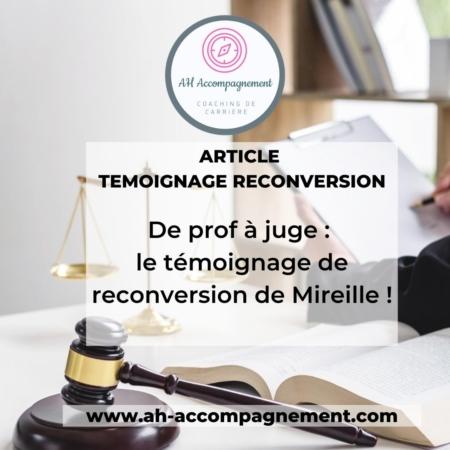 reconversion de prof à juge