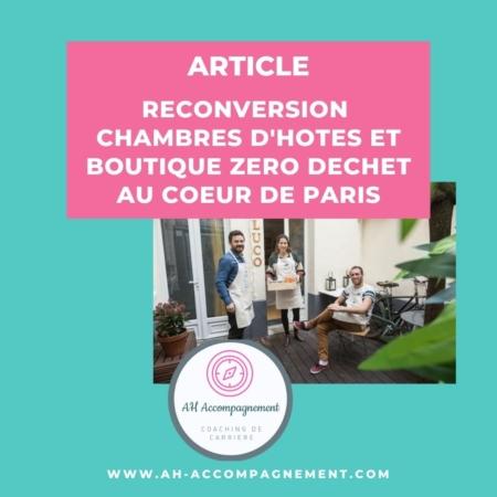 RECONVERSION ZERO DECHET PARIS