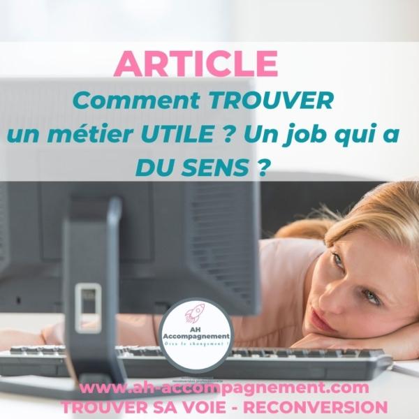 COMMENT TROUVER JOB DE SENS